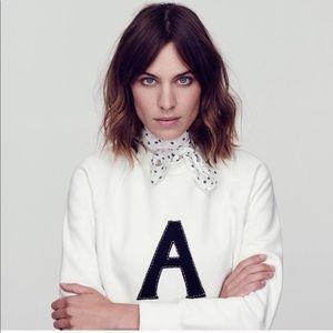 Alexa Chung x AG Scarlet Sweatshirt size XS